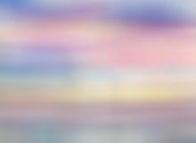 Небо цвета с облаками Небо утра или вечера под водой Стоковые Фотографии RF