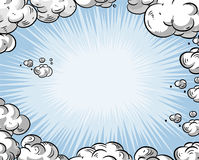 небо шаржа Стоковые Изображения RF
