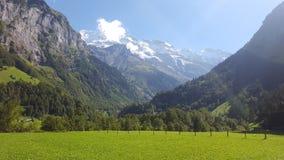 Небо Швейцарии чистое стоковые фотографии rf