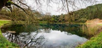 Небольшое озеро в Греции Стоковое Фото