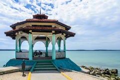 Небольшой дом в Punta Gorda, Cienfuegos, Кубе Стоковые Фотографии RF