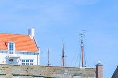 Небольшой дом на гавани стоковое фото rf