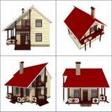 Небольшой дом иллюстрация штока