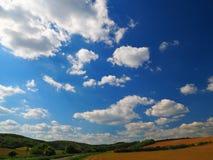Небо, южная Моравия, чехия Стоковое фото RF