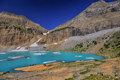 Небо ясности ледника Grinnell голубое, национальный парк ледника Стоковые Фотографии RF