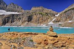 Небо ясности ледника Grinnell голубое, национальный парк ледника Стоковое Изображение RF