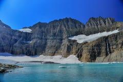 Небо ясности ледника Grinnell голубое, национальный парк ледника Стоковая Фотография RF