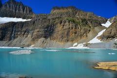 Небо ясности ледника Grinnell голубое, национальный парк ледника Стоковое фото RF