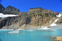 Небо ясности ледника Grinnell голубое, национальный парк ледника Стоковая Фотография
