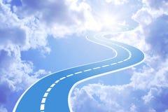 небо дороги к Стоковые Изображения RF