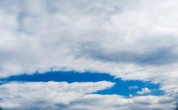Небо Backgroung голубое, облака Стоковое Изображение RF