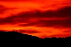 Небо; fiery стоковое изображение rf