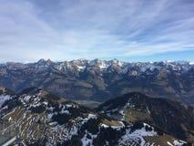 Небо fribourg Швейцарии гор Moleson стоковая фотография