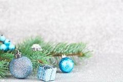 небо klaus santa заморозка рождества карточки мешка рождество украшает идеи украшения свежие домашние к звезды абстрактной картин Стоковое Изображение RF