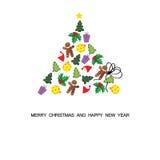 небо klaus santa заморозка рождества карточки мешка Стоковое Изображение