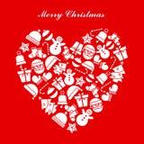 небо klaus santa заморозка рождества карточки мешка Стоковое Изображение RF