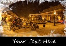 небо klaus santa заморозка рождества карточки мешка Стоковые Фото