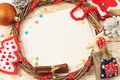 небо klaus santa заморозка рождества карточки мешка Стоковая Фотография