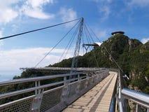 небо langkawi моста Стоковая Фотография