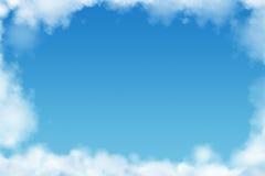 небо lika рамки голубых ярких облаков темное Стоковая Фотография RF