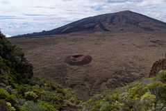 Небо réunion fournaise Piton volcan стоковое фото