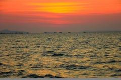 Небо Th на море стоковая фотография