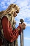 небо viking девушки предпосылки голубое Стоковые Изображения RF