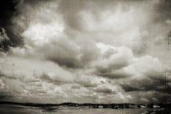небо w b Стоковые Фотографии RF