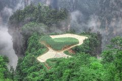 небо zhangjiajie национального парка сельскохозяйствення угодье стоковая фотография