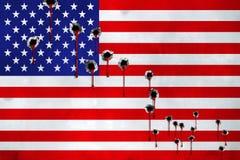 НЕВАДА, ЛАС-ВЕГАС, 2-ое октября 2017 - deadliest массовая стрельба в истории США По крайней мере 50 мертвых Больше чем 400 ранено стоковое фото