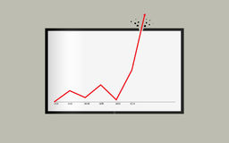Невероятные статистик времени успеха или показателя вкратце иллюстрация штока