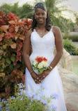 невеста афроамериканца Стоковое фото RF