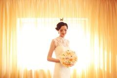 невеста букета цветет удерживание Стоковые Фотографии RF