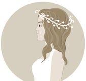 Невеста в венке Бесплатная Иллюстрация