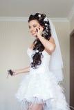 Невеста в комнате Стоковая Фотография RF
