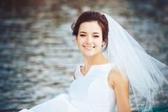 Невеста в прогулочном катере Стоковые Изображения RF