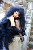 Невеста в черноте Стоковые Фотографии RF