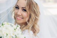 Невеста день его замужества Стоковые Изображения RF