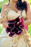 Невеста держа букет Стоковое Изображение RF