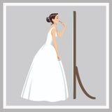 Невеста исправляет состав бесплатная иллюстрация