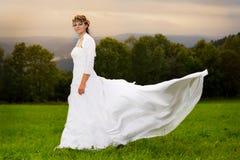 Невеста и луг Стоковое Изображение