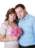 Невеста и groom в студии стоковые фото