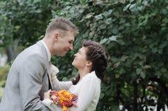 Невеста и groom стоковое изображение