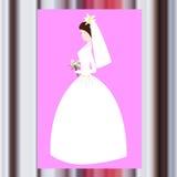 Невеста карточки свадьбы Стоковые Фотографии RF