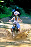 Невеста на велосипеде Стоковые Изображения RF