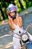 Невеста на велосипеде Стоковое фото RF