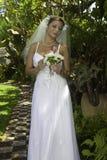 Невеста на ее день свадьбы Стоковые Изображения RF