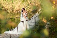 Невеста на мосте Стоковое Фото
