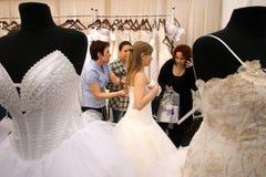 Невеста на wedding справедливо в Бухаресте Стоковая Фотография RF