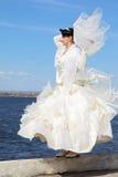 невеста около реки Стоковая Фотография RF